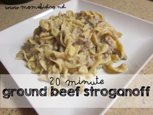 Easy 20 Minute Ground Beef Stroganoff Recipe