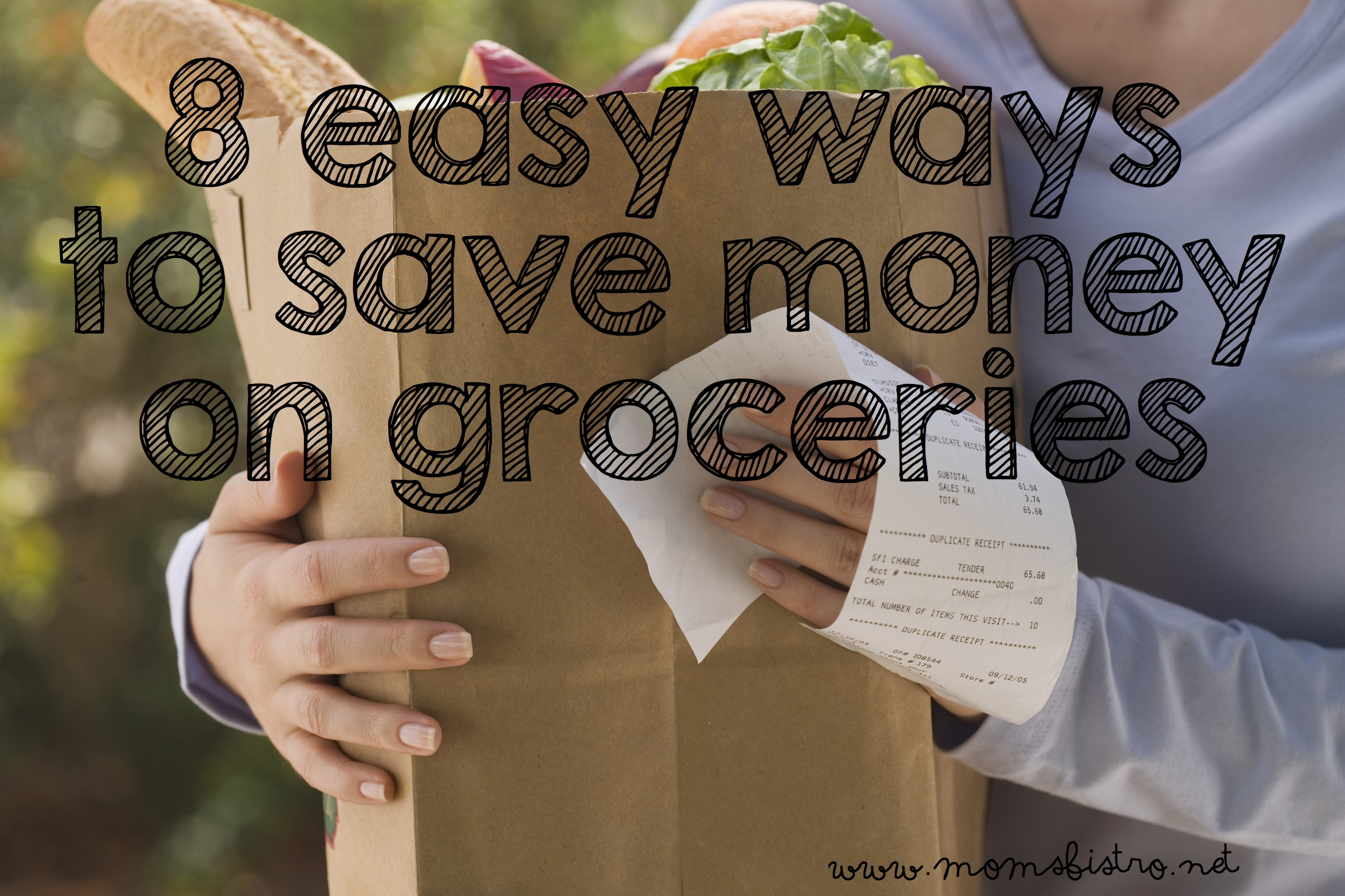 8 Easy Ways To Save Money On Groceries | Mom's Bistro