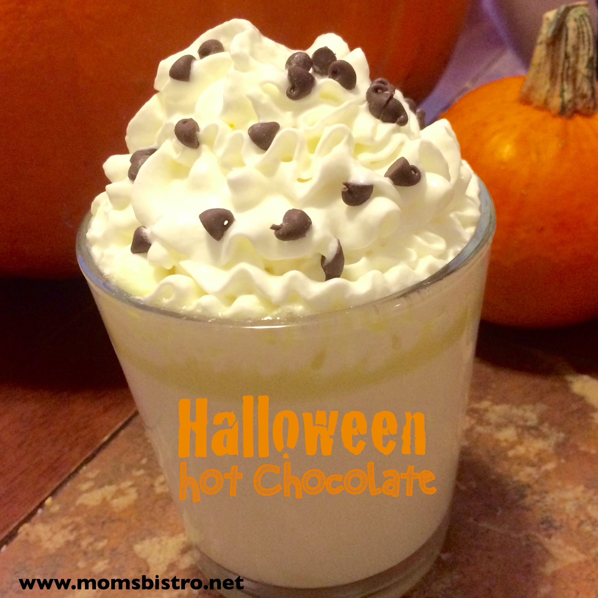 Ghoulish Halloween White Hot Chocolate – Easy Homemade Hot Chocolate Recipe