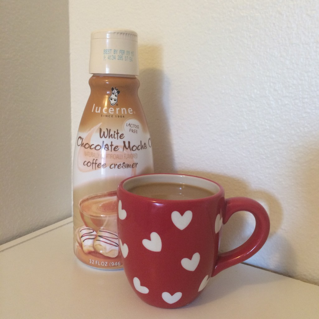 Coffee with Lucerne Dairy White Chocolate Mocha Creamer