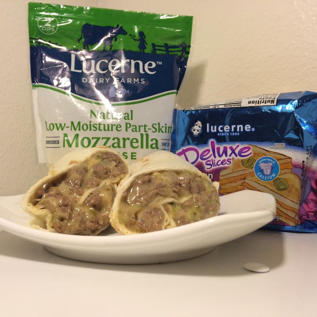 Easy Cheesy Philly Cheese Steak Recipe with Lucerne Deluxe American Cheese and Lucerne Shredded Mozzarella