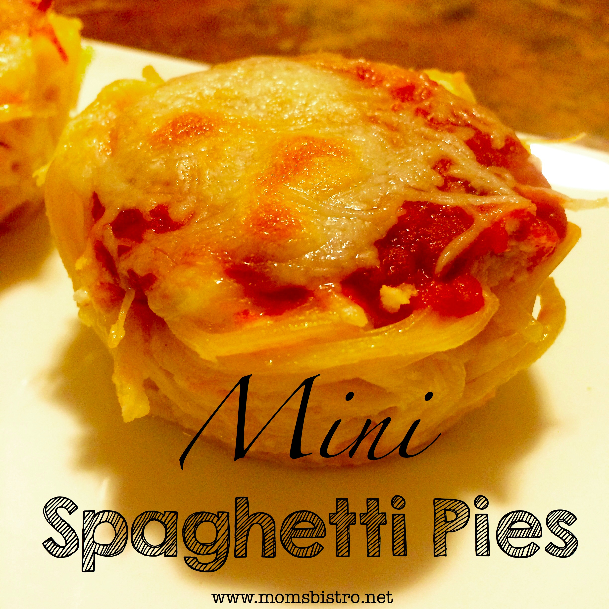Easy Dinner Idea – 20 Minute Mini Spaghetti Pie Recipe