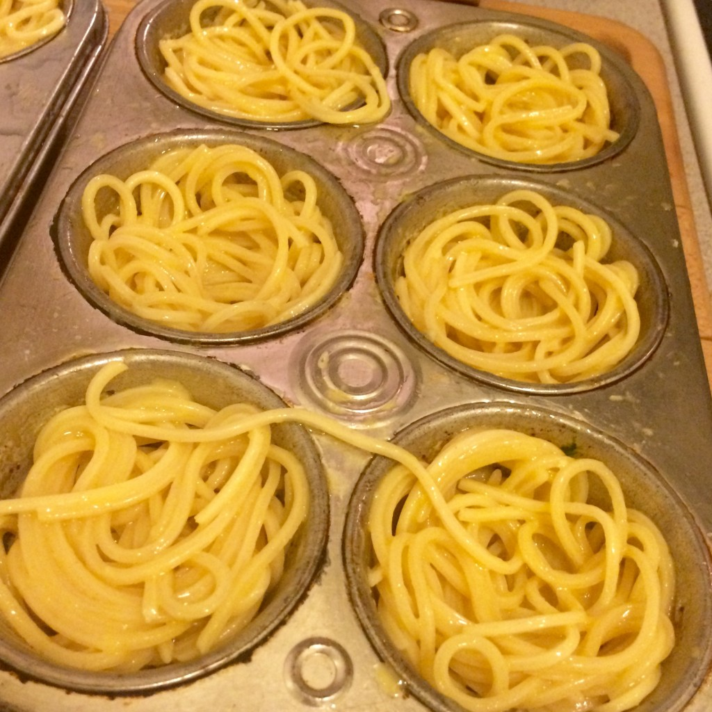 mini spaghetti pie step 3