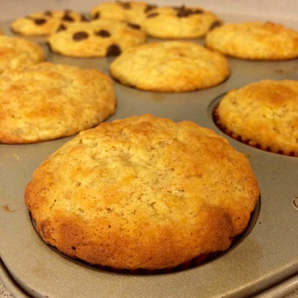 banana pancake muffin  chocolate chip