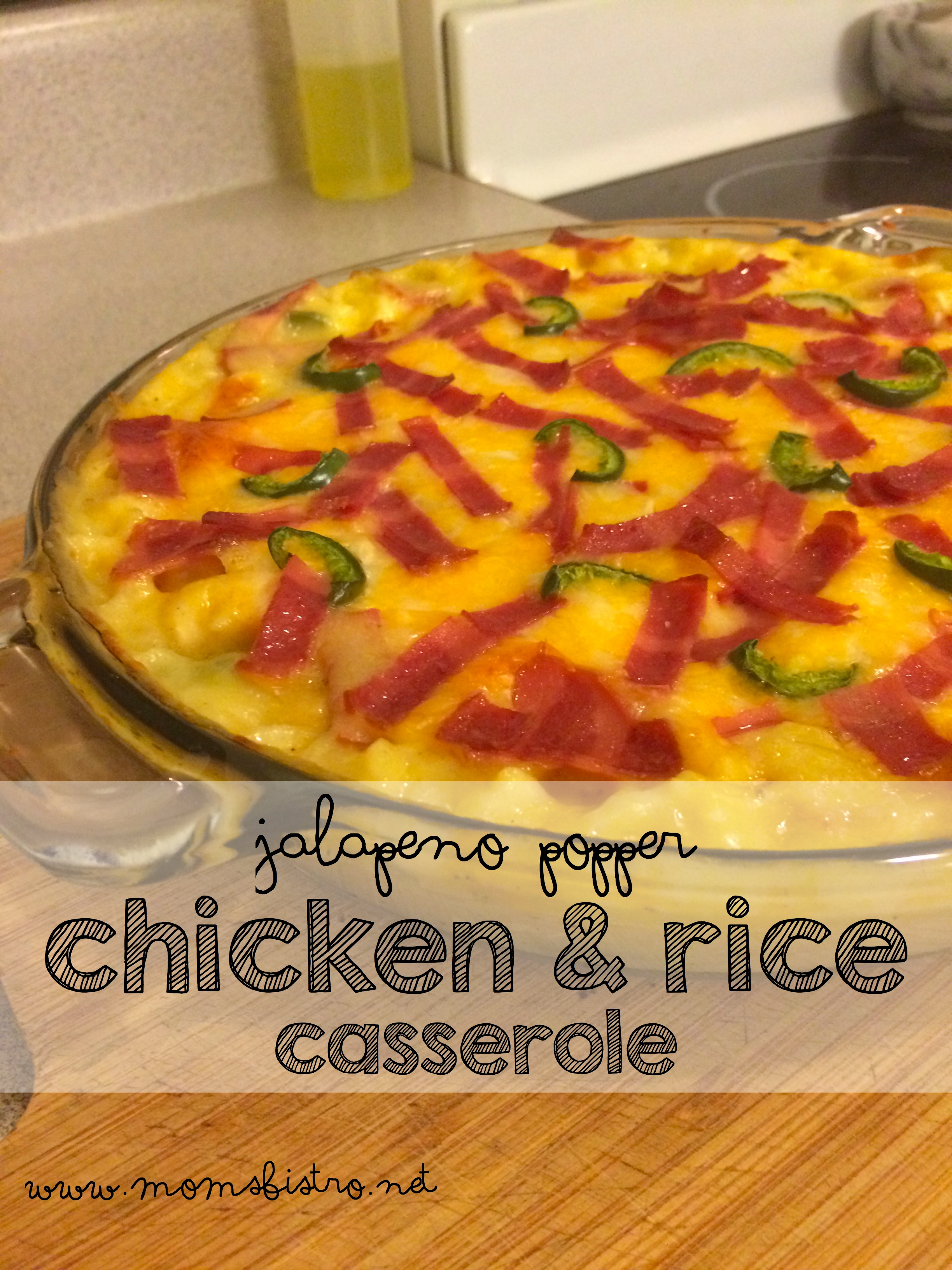 One-Dish Jalapeño Popper Chicken and Rice Casserole