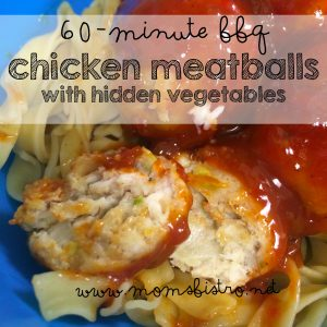 60-minute bbq chicken meatballs with hidden veggies