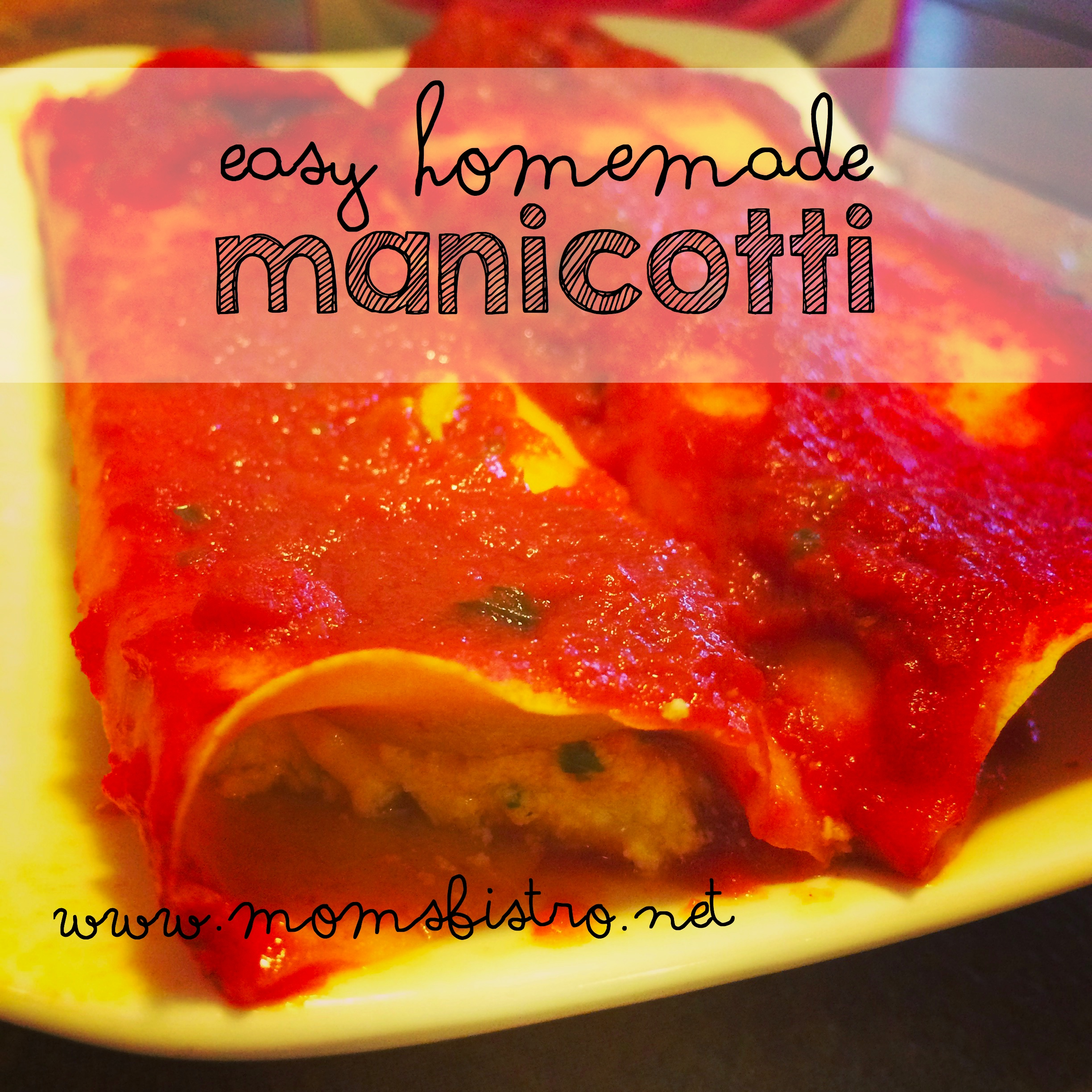 Easy Homemade Manicotti and Marinara Sauce Recipe with Pomi Strained Tomatoes