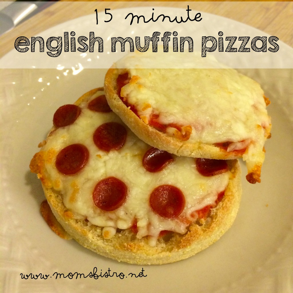 15 minute english muffin pizza recipe moms bistro
