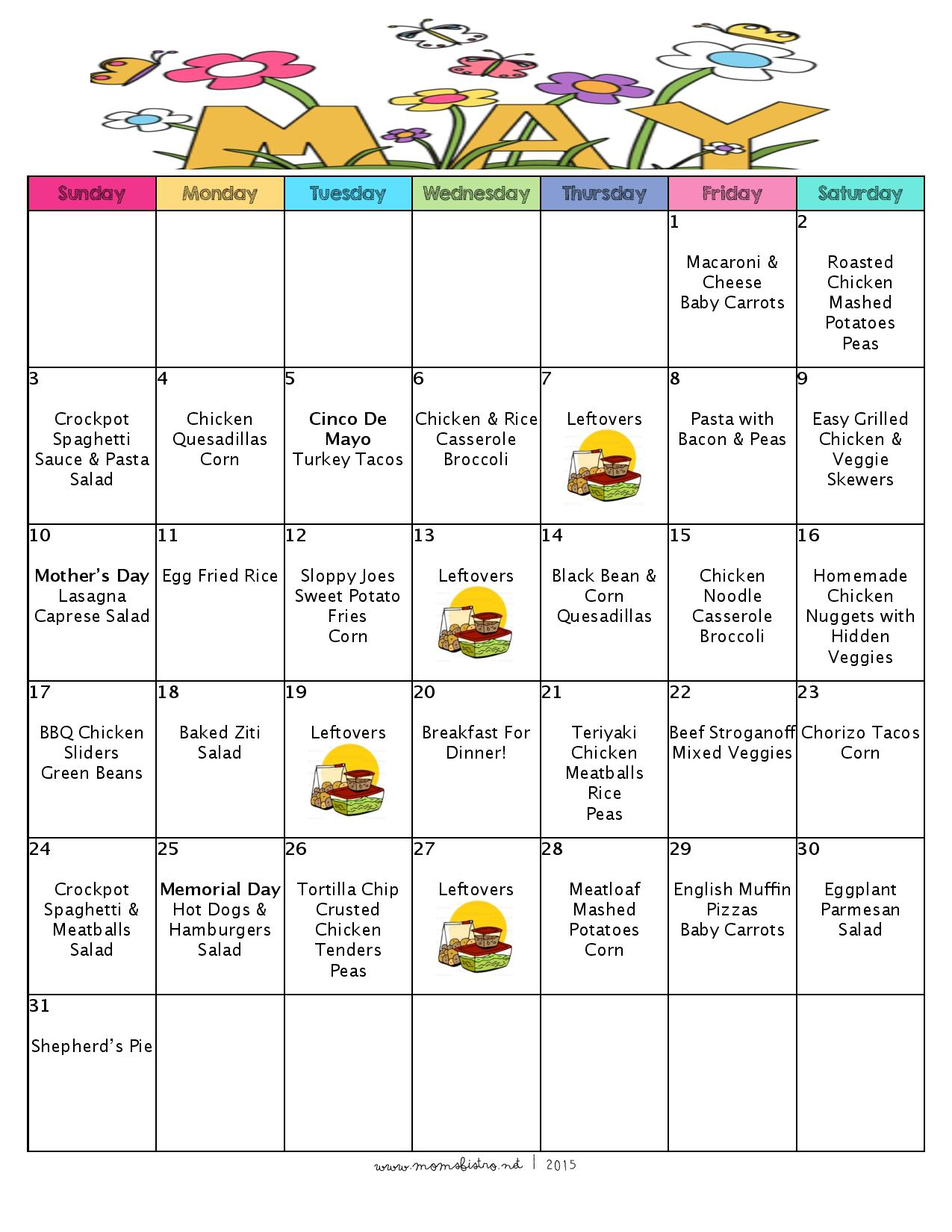 A Month Of Meal On A Budget | May 2015 Meal Plan | 31 Days of Dinners For $141 with 5 NEW Recipes!