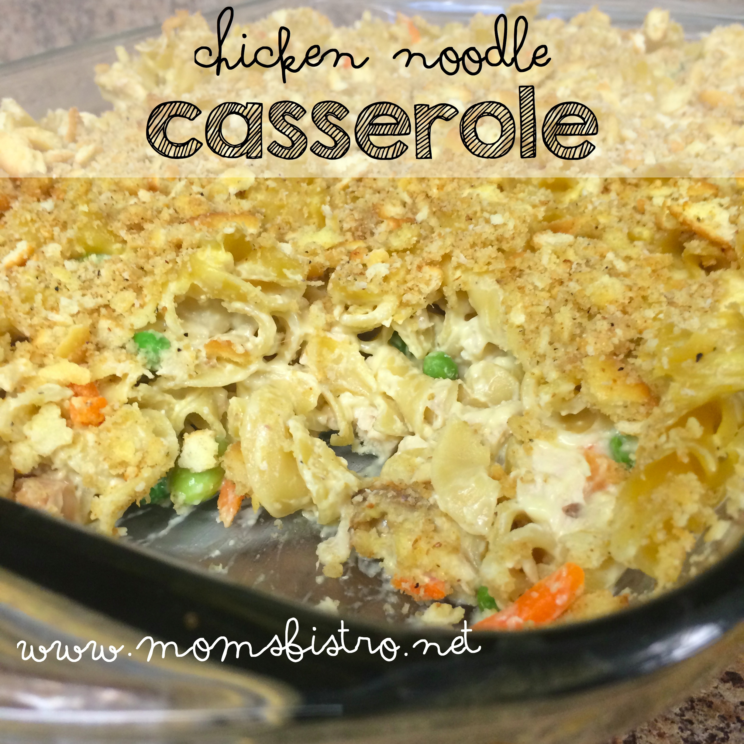 Leftover Chicken?  Try This Easy Kid-Friendly 60-Minute Chicken Noodle Casserole Recipe