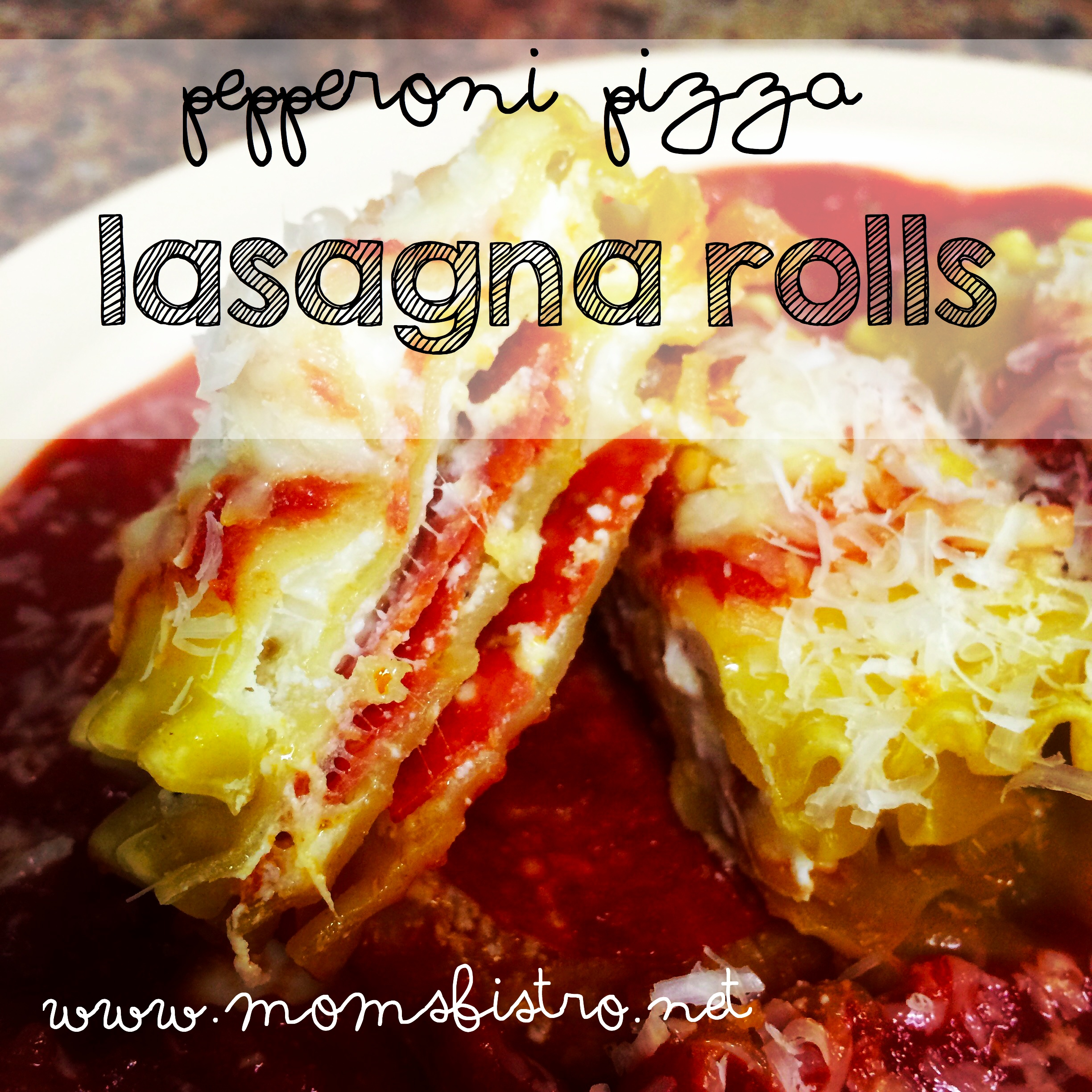 30 Minute Dinner Idea!  Pepperoni Pizza Lasagna Roll Recipe