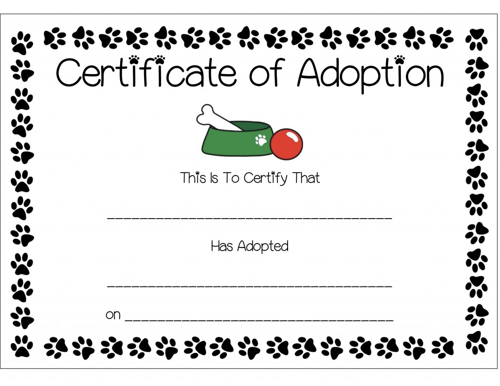 Nutella puppy chow recipe and anthony 39 s paw patrol puppy for Adoption certificate template