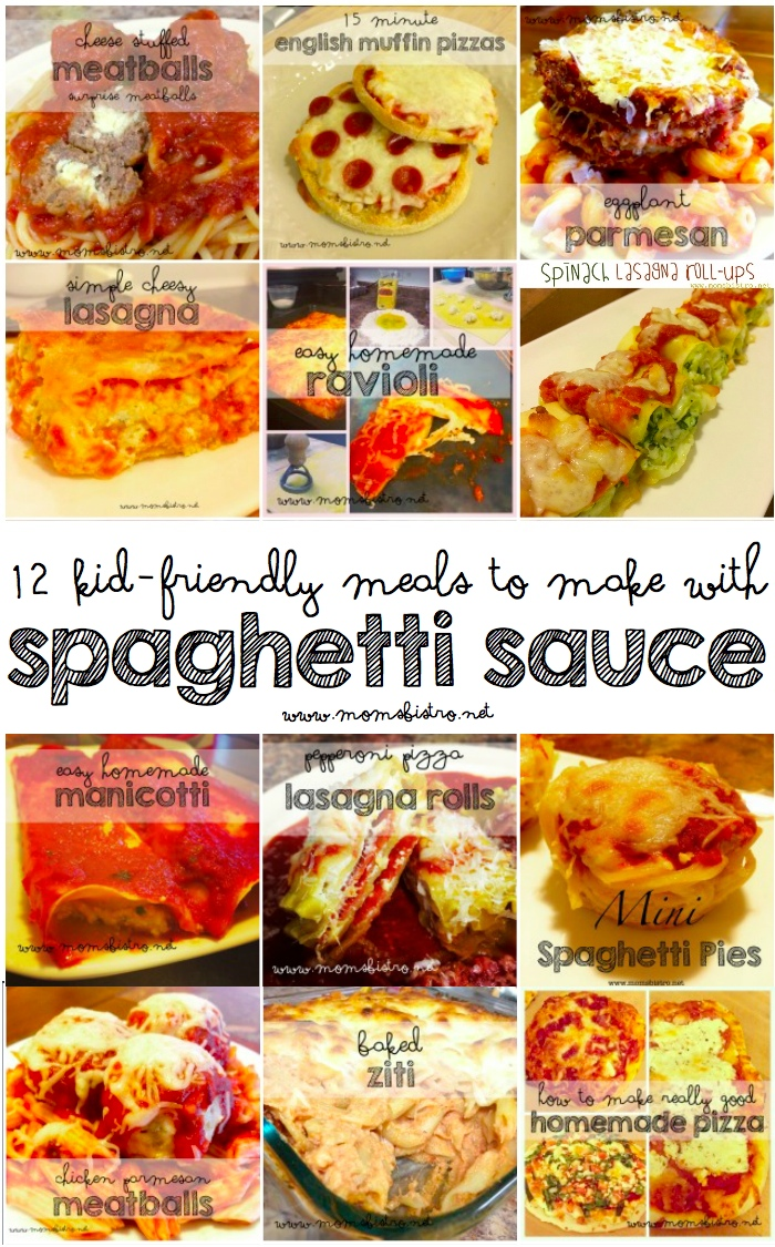 12 Kid-Friendly Recipes To Make With Spaghetti Sauce | One Recipe For Homemade Spaghetti Sauce and Endless Dinner Possibilities