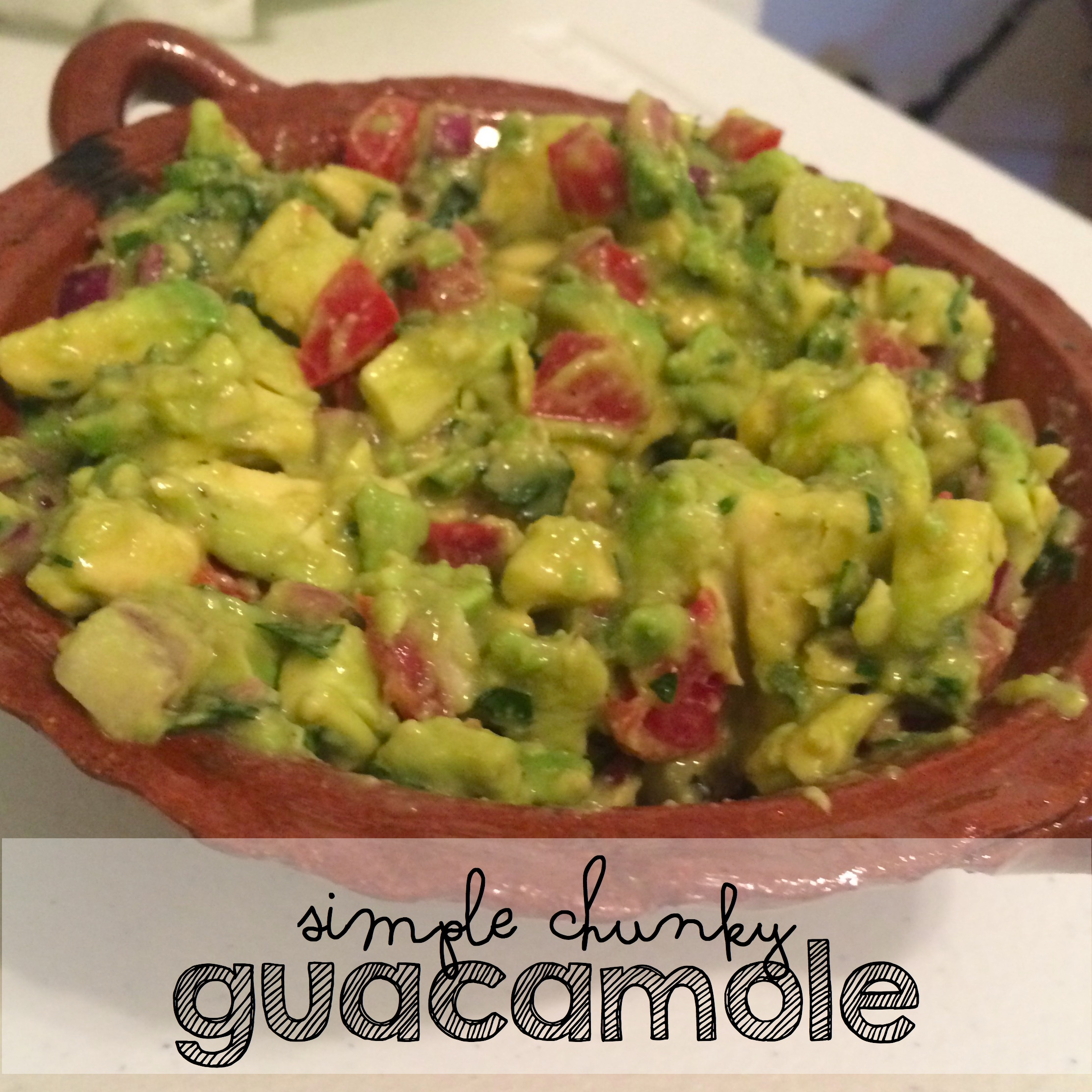 Holy Guacamole That Was Easy!  Simple Chunky Guacamole Recipe