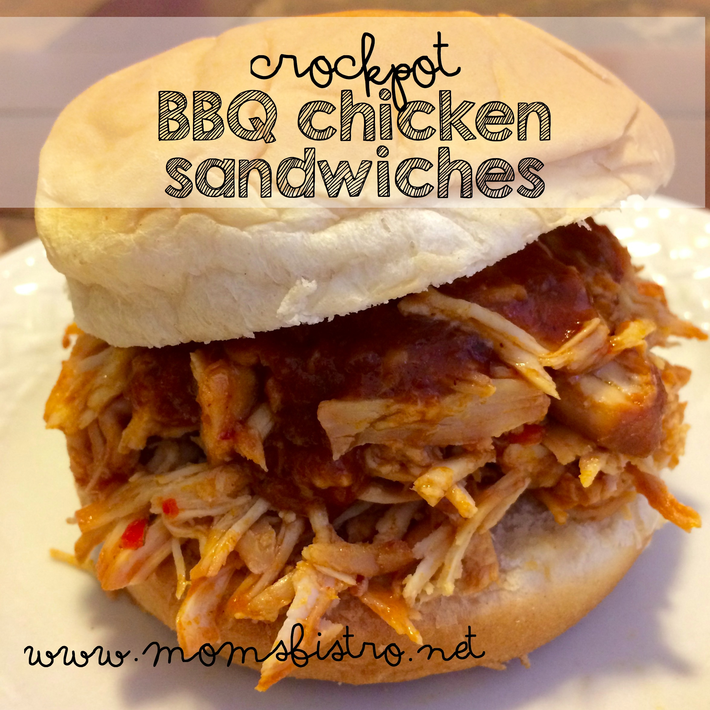 Super Easy Kid-Friendly Crockpot BBQ Chicken Sandwiches Recipe And An Easy Homemade Brown Sugar BBQ Sauce