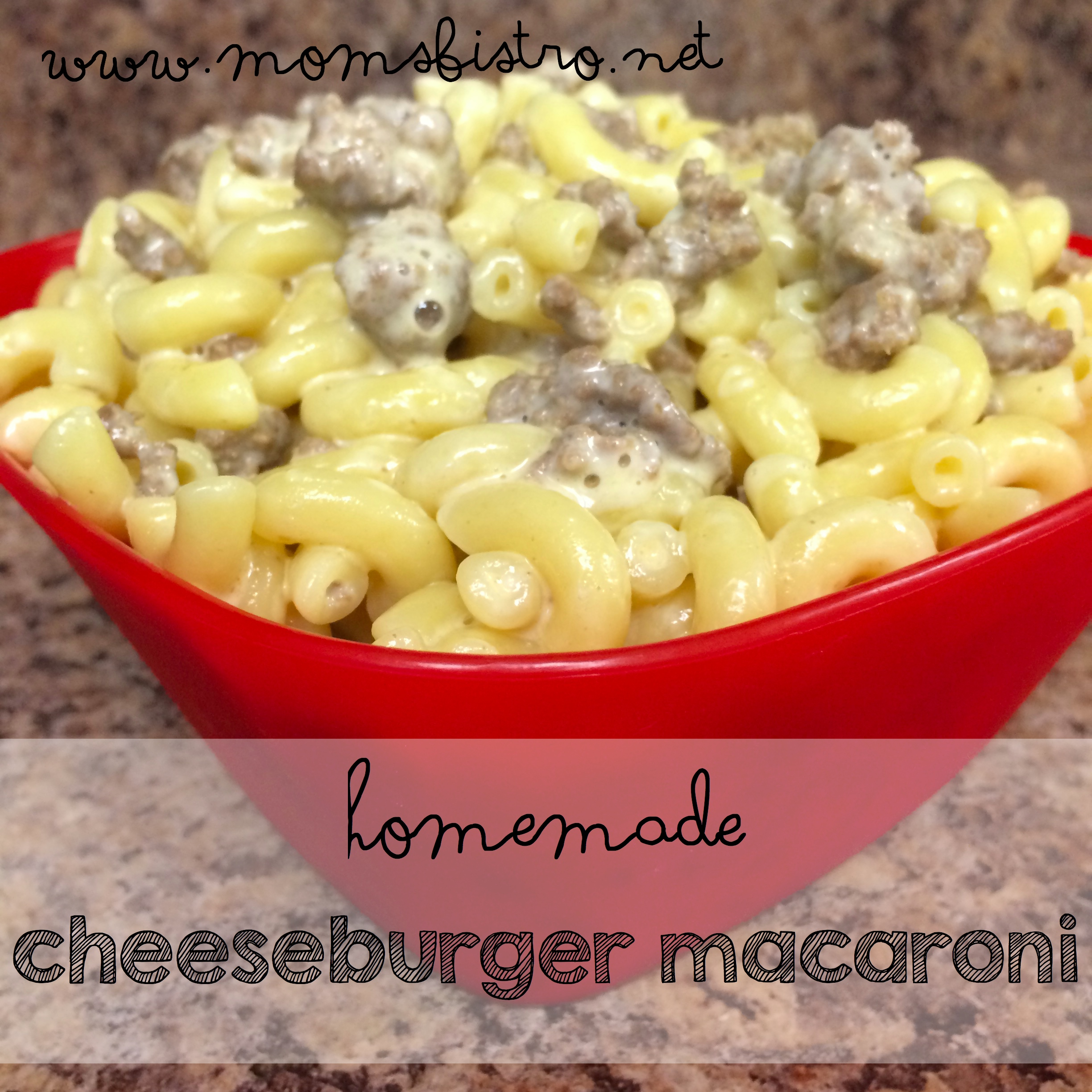 Never Buy The Boxed Stuff Ever Again!  An Easy Cheesy 20-Minute Homemade Cheeseburger Macaroni Recipe