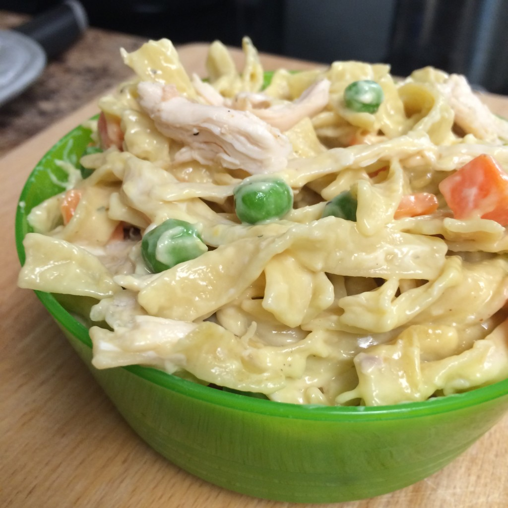 20 minute stove top chicken pot pie pasta kid friendly recipe weeknight dinner moms bistro