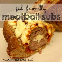 kid friendly meatball sub recipe moms bistro spaghetti sauce meatballs cheese stuffed recipe