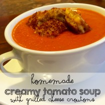 homemade creamy tomato soup recipe grilled cheese croutons moms bistro