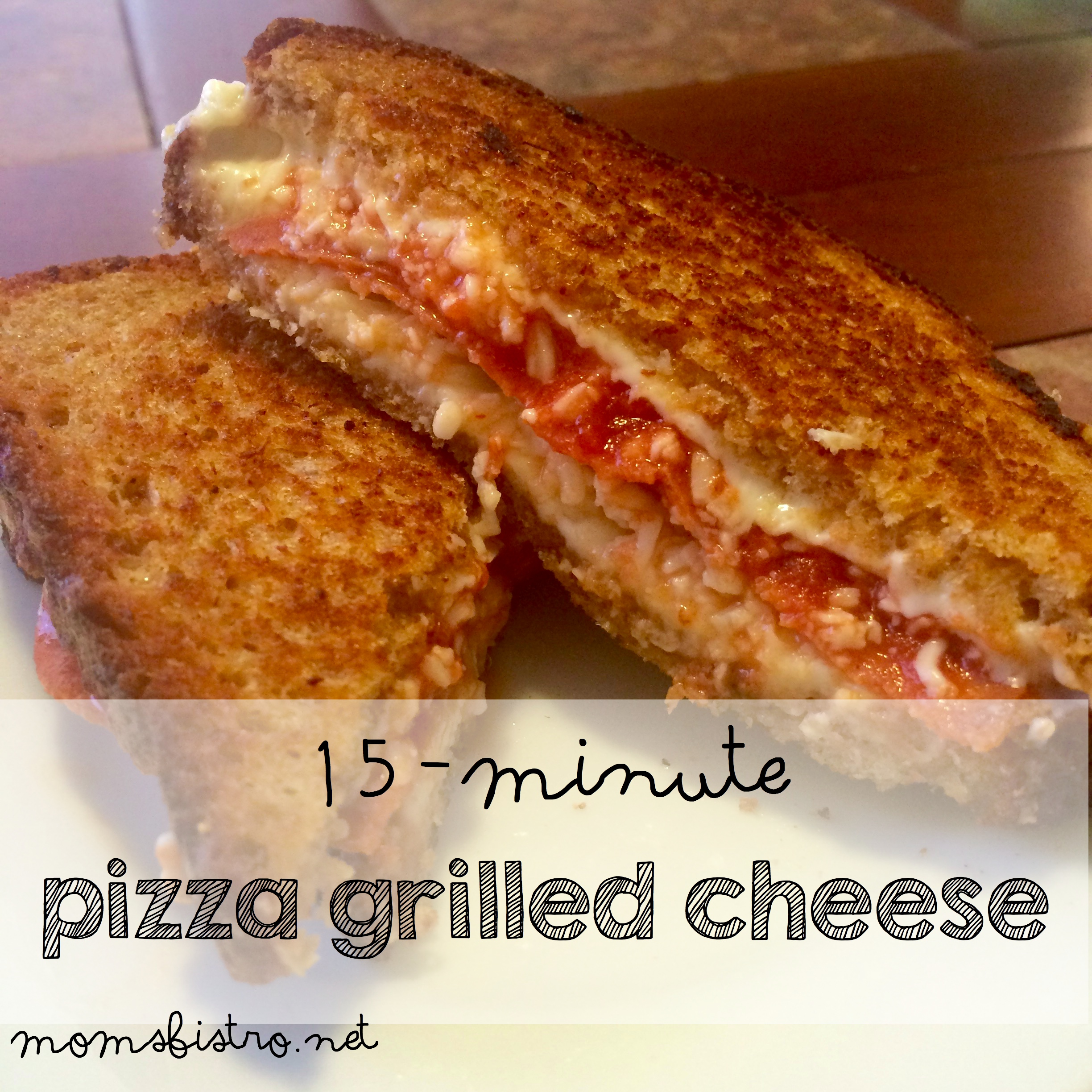 Two of Your Kids Favorites In One Meal!  15 Minute Pizza Grilled Cheese Sandwich Recipe