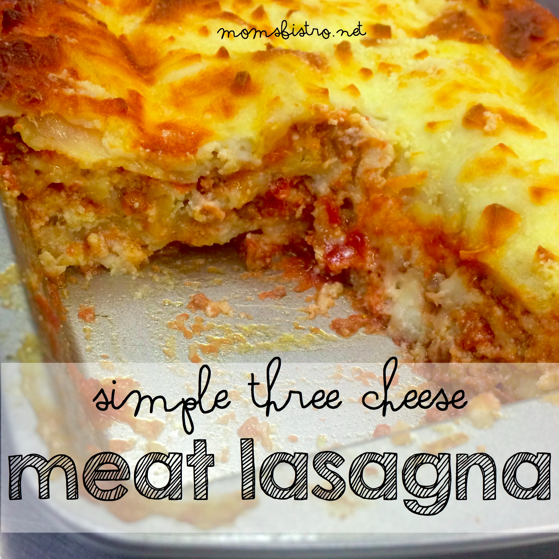Use Up Your Leftovers!  Try This Simple Three Cheese Meat Lasagna Recipe