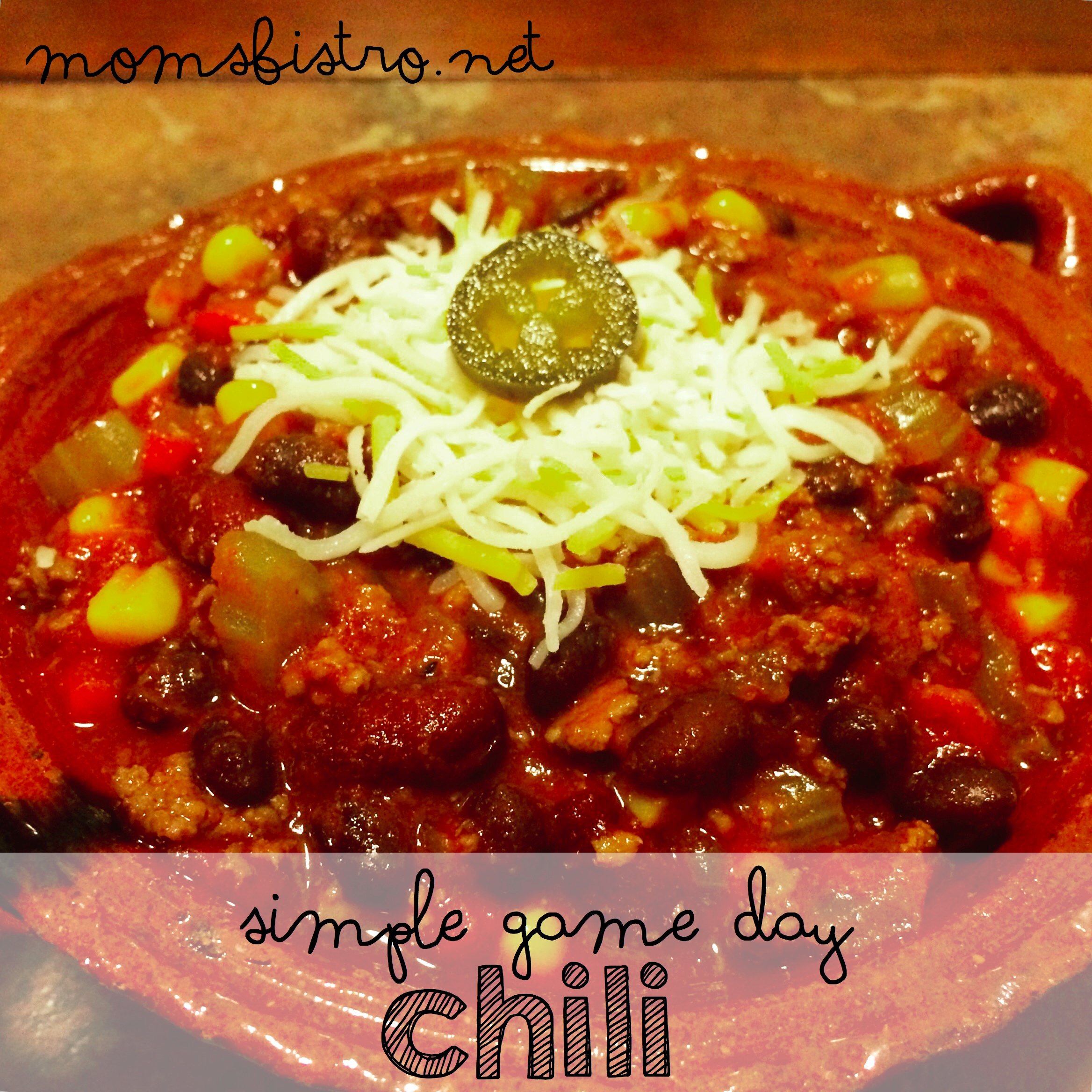 Simple Game Day Chili Recipe – An Easy Homemade Chili Recipe Perfect For Any Game Day!