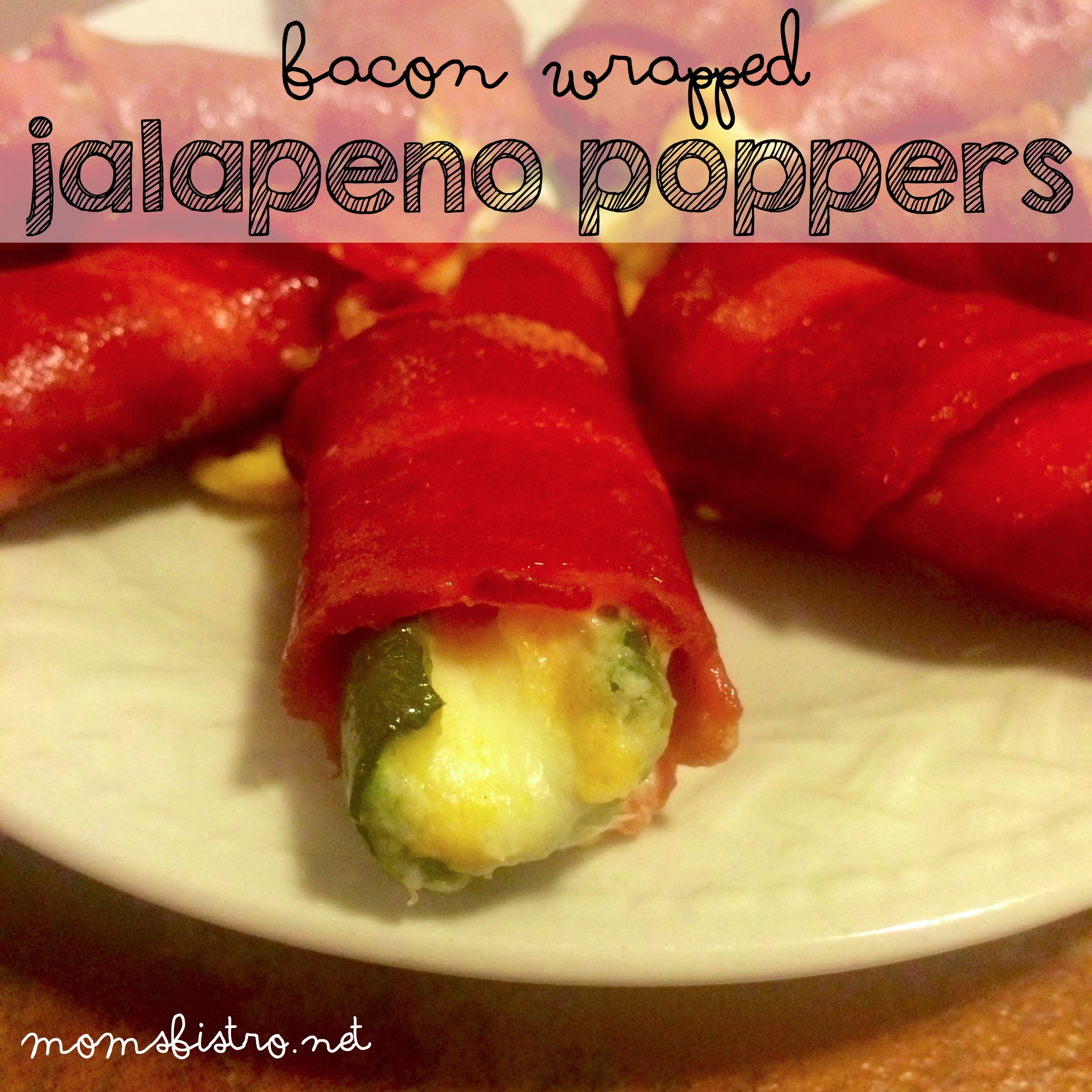 Ready for Game Day?  Bacon Wrapped Jalapeño Poppers