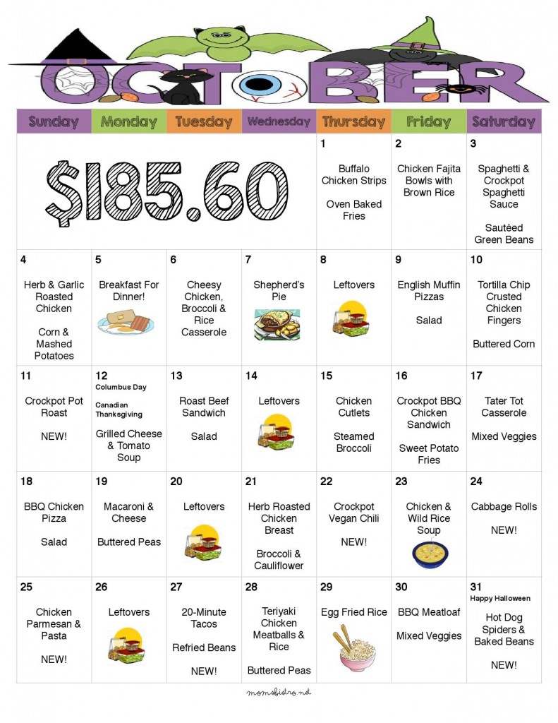 30 days of kid friendly dinners with free printable weekly for Monthly dinner menu template