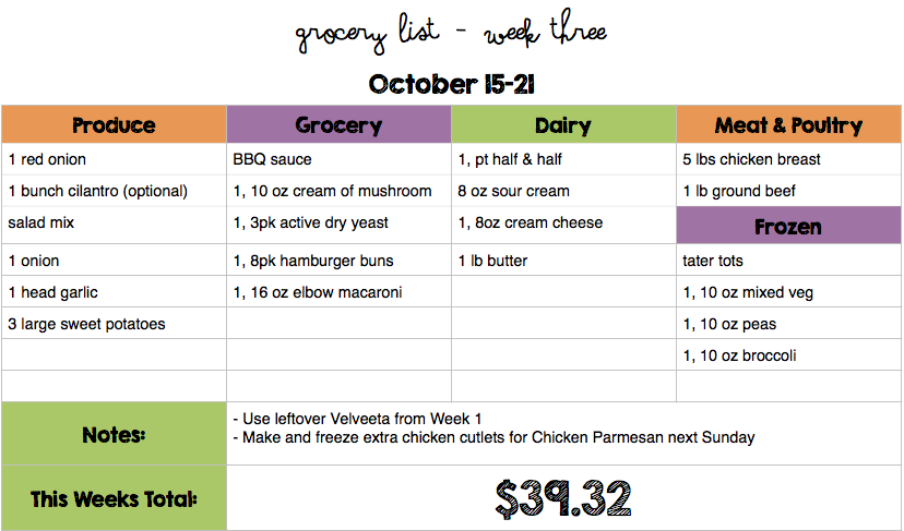 october menu plan moms bistro budget menu