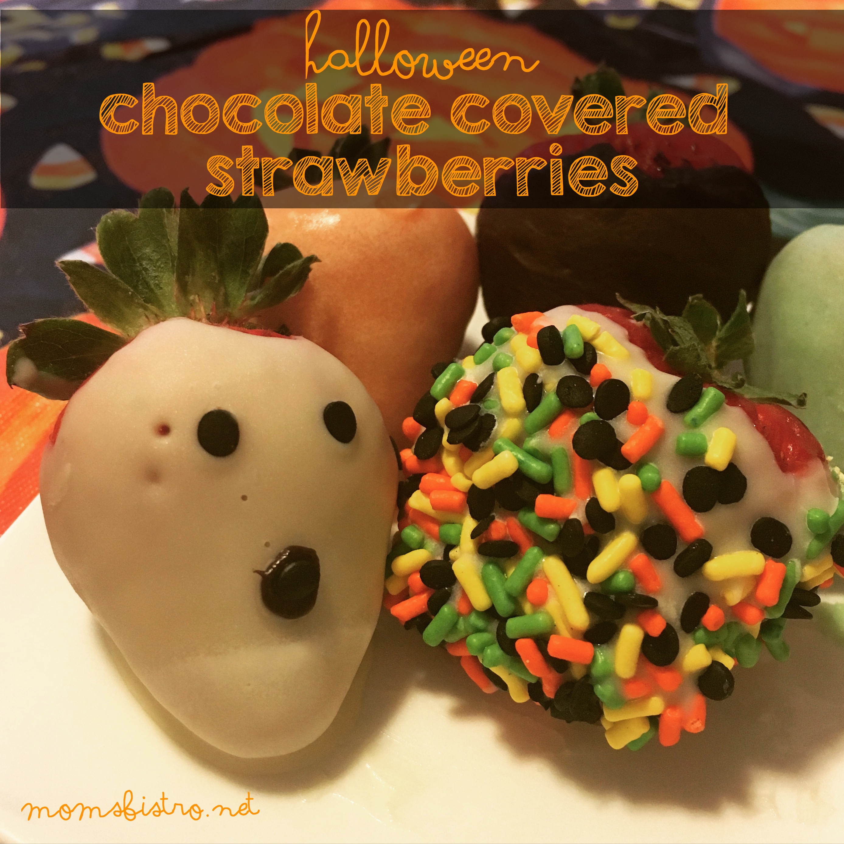 Halloween Inspired Chocolate Covered Strawberries – An Easy Last Minute Halloween Recipe