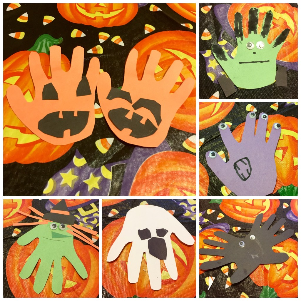 last minute halloween craft grandparents halloween handprint wreath easy diy handprints moms bistro homemade