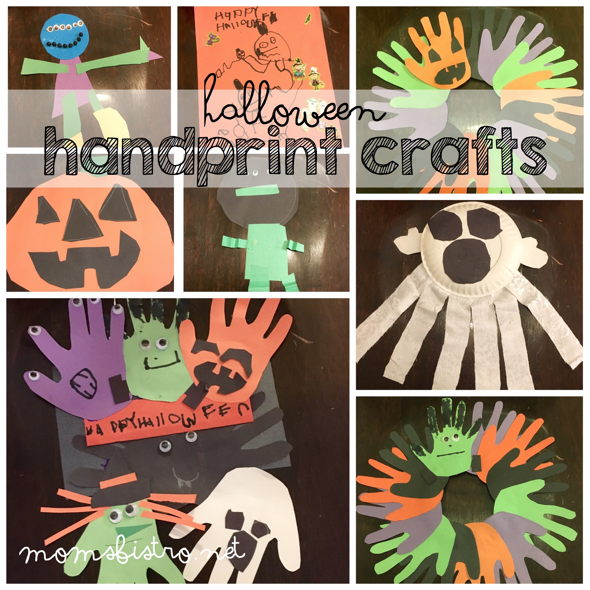 A Perfect Last Minute Halloween Craft For Grandparents – Easy Halloween Handprint Wreaths and Other Easy Halloween Craft Ideas