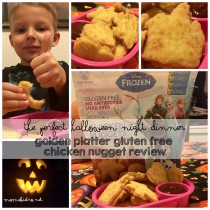 Golden Platter Frozen Disney Chicken Nuggets Gluten Free Review Halloween Dinner Easy Kid Friendly Space Shape