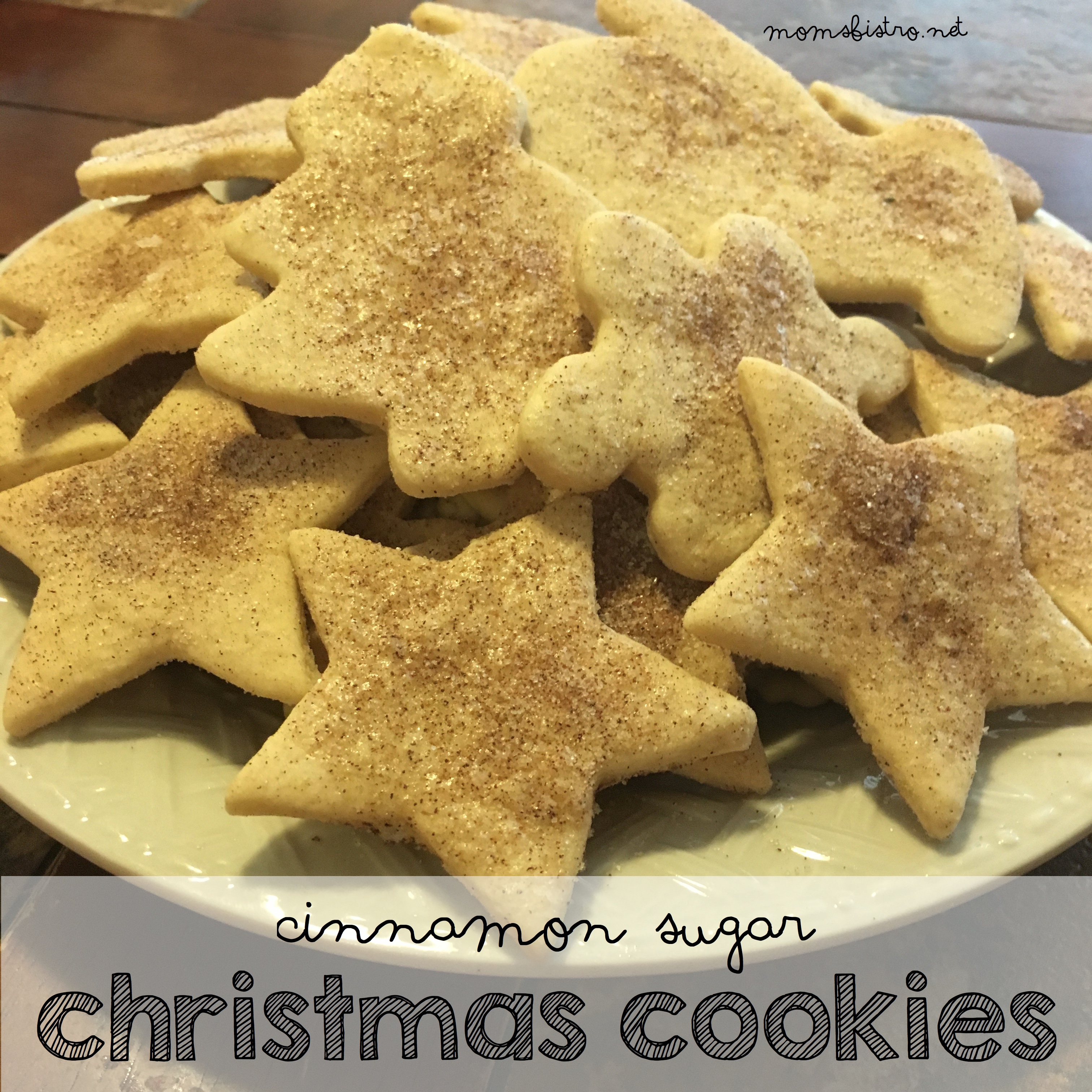 Celebrate National Cookie Day with These Cinnamon Sugar Christmas Cookies!