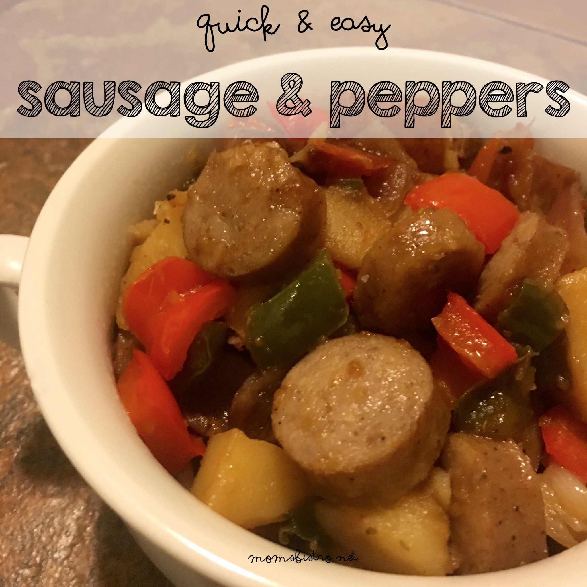 Traditional Italian Comfort Food Always Warms The Soul!  Simple Sausage and Peppers Recipe