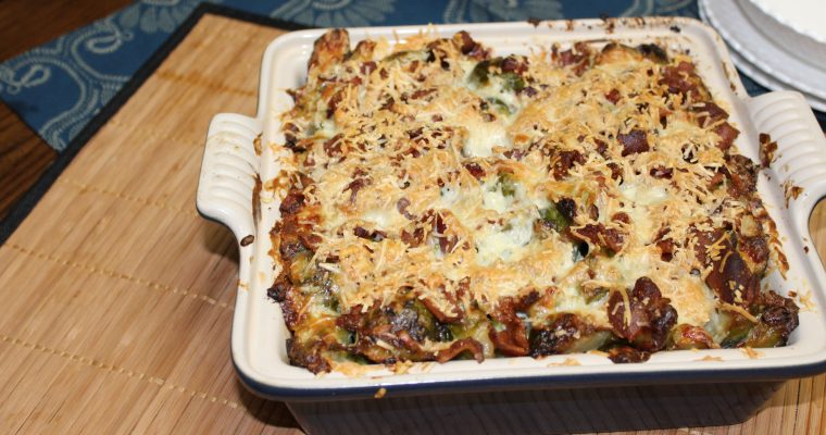 12 Days of Christmas – Day 3:  Christmas Side – Cheesy Brussels Sprouts Bake Recipe