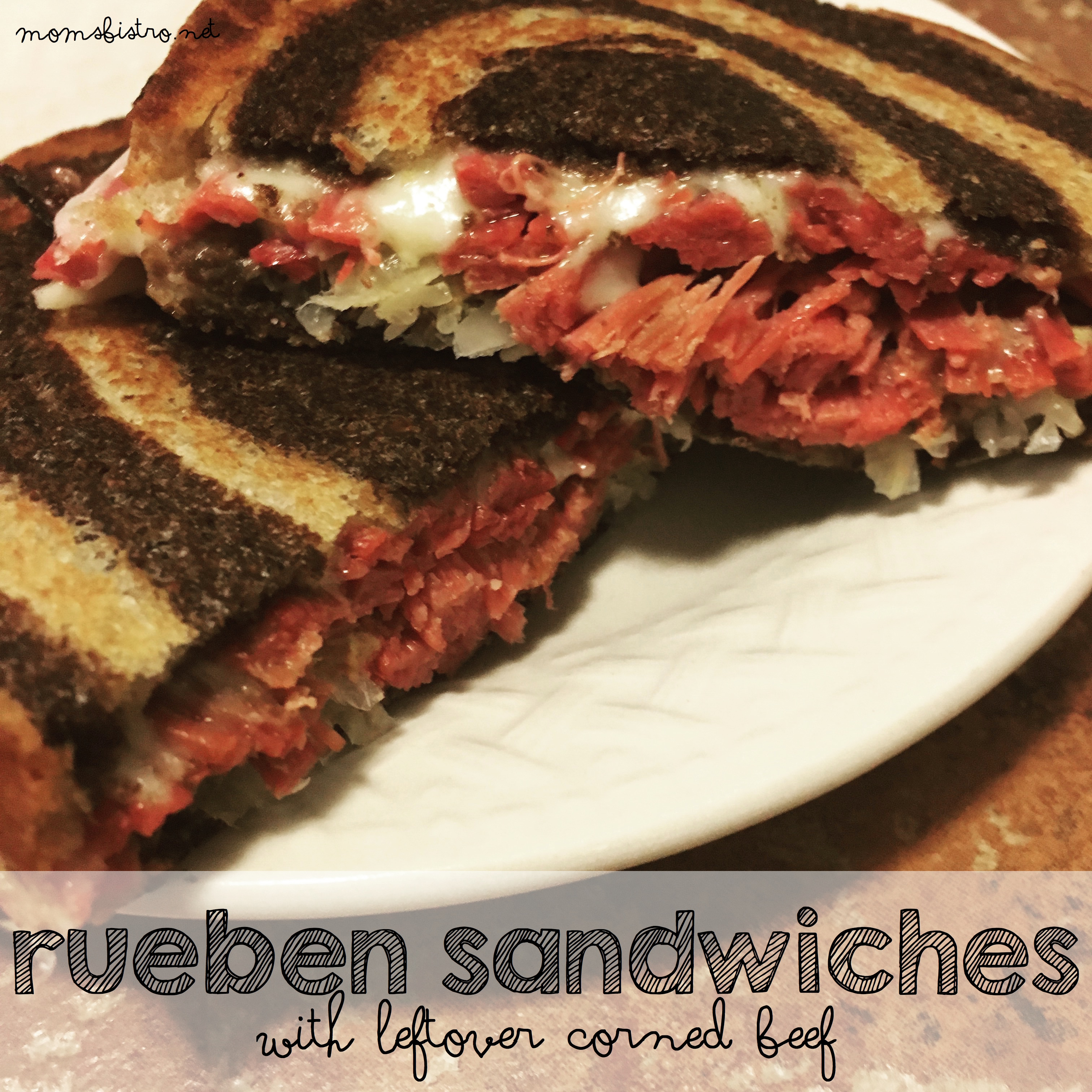 Keep Getting Lucky and Use Your Leftovers For These Easy and Delicious Rueben Sandwiches