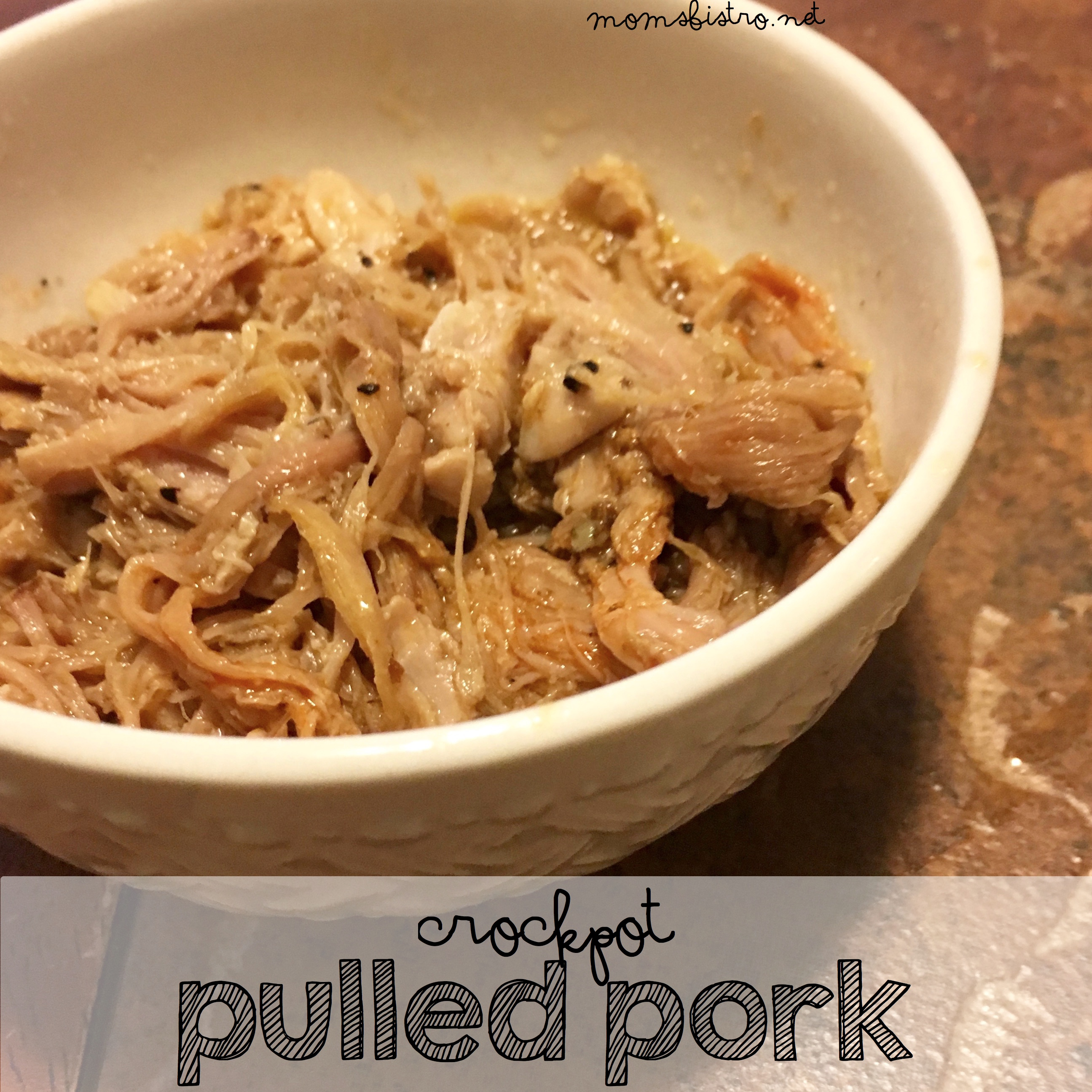 So Simple and So Delicious!  Easy CrockPot Pulled Pork
