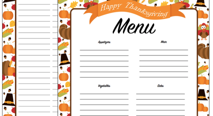 Thanksgiving Planner – Get A Head Start on Thanksgiving Now with FREE Printables!