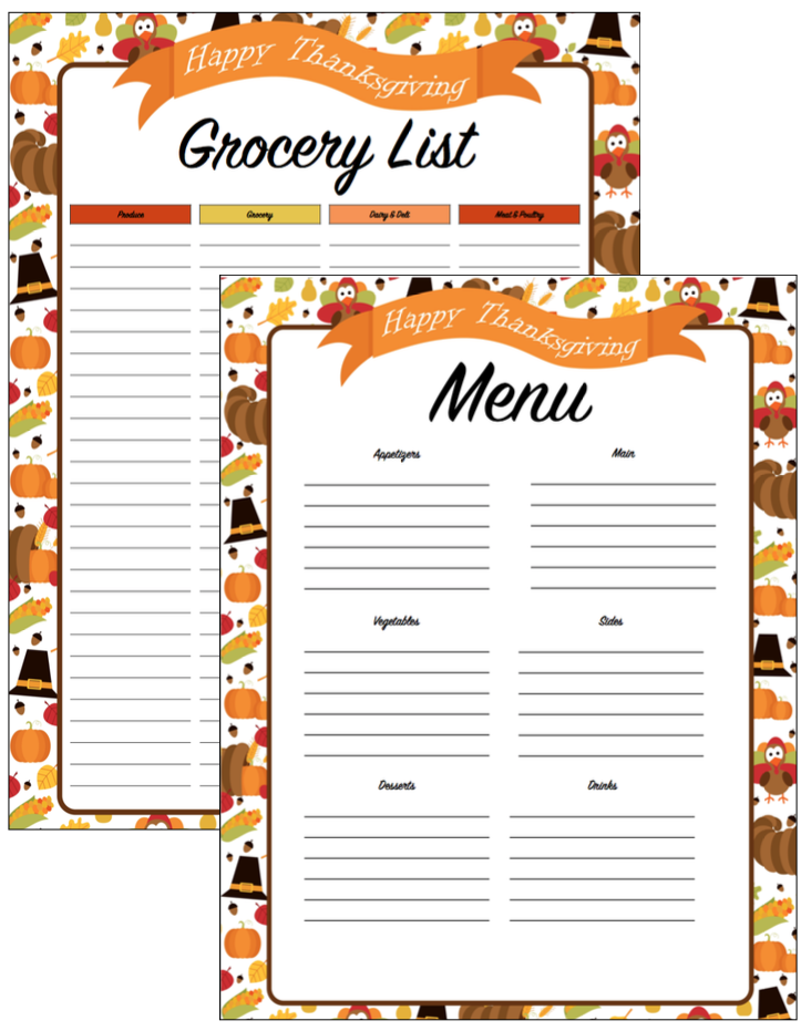 I Have Also Created A Detailed Thanksgiving Planner Which Includes All Of The Above Plus A Menu With Grocery List A Day By Day Step By Step Planning