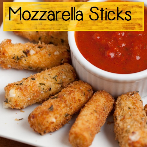 homemade baked mozzarella sticks - appetizer recipe