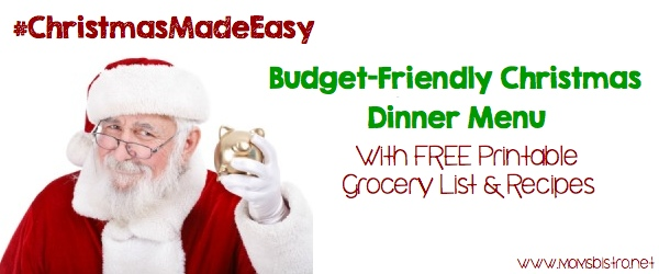 Christmas Dinner For 8 For $51.69 Using Walmart Grocery To Go | How To Plan Christmas Dinner On A Budget | FREE Meal Planning Printables and Easy Christmas Dinner Recipes | Mom's Bistro #ChristmasMadeEasy #WalmartGrocery