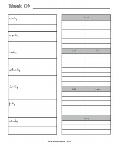 weekly menu planner with grocery list - new febrary 2015-page-001