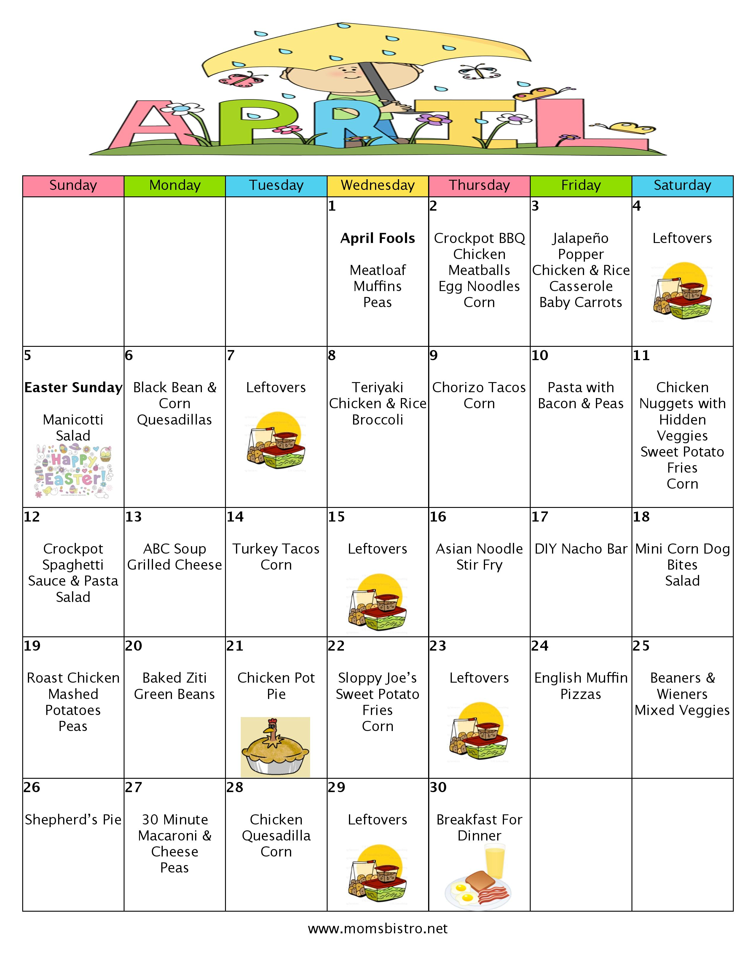 A Month Of Meals On A Budget April 2015 Meal Plan 30