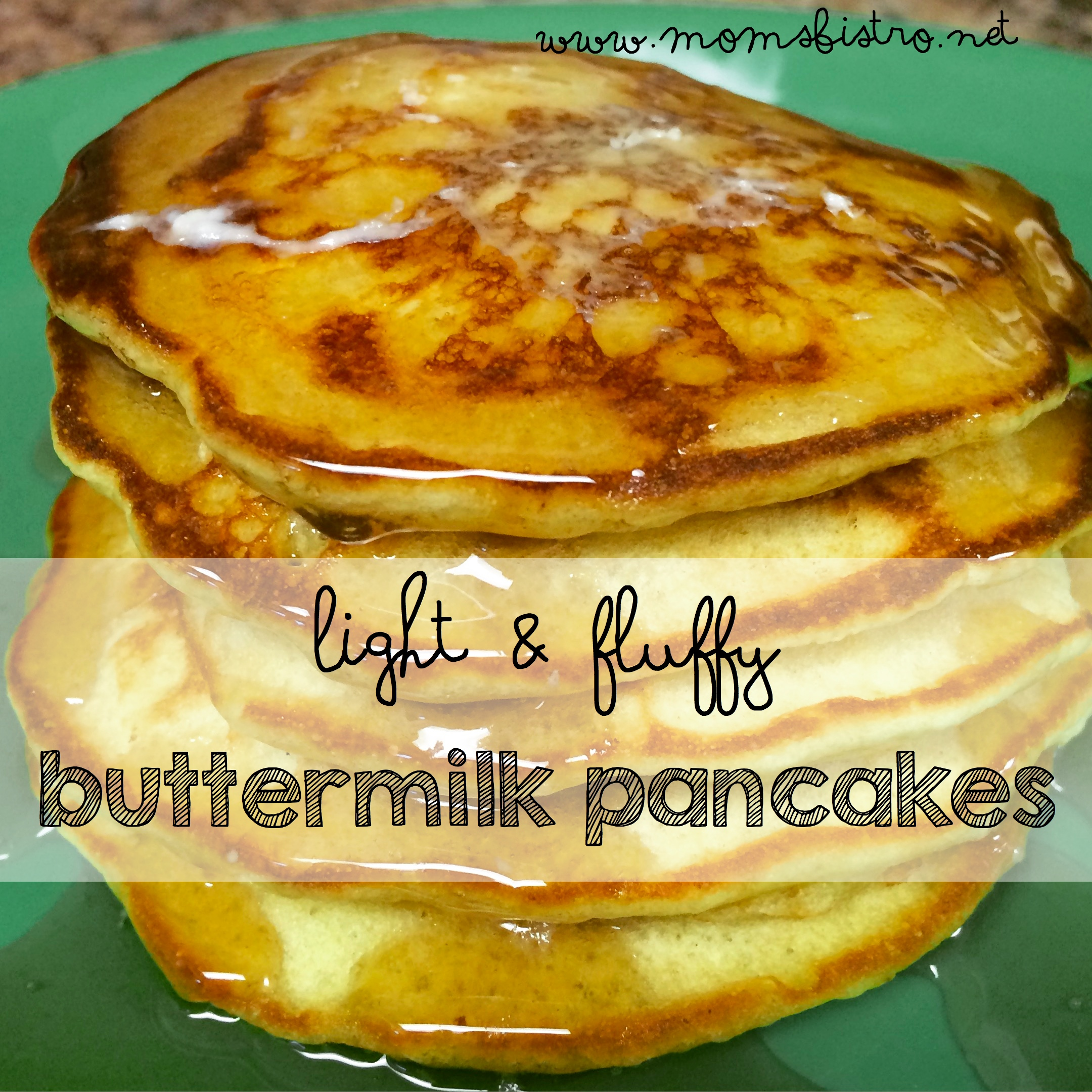 Light and Fluffy Buttermilk Pancakes Recipe Plus Learn How To Make Buttermilk With Only Milk and Lemon Juice