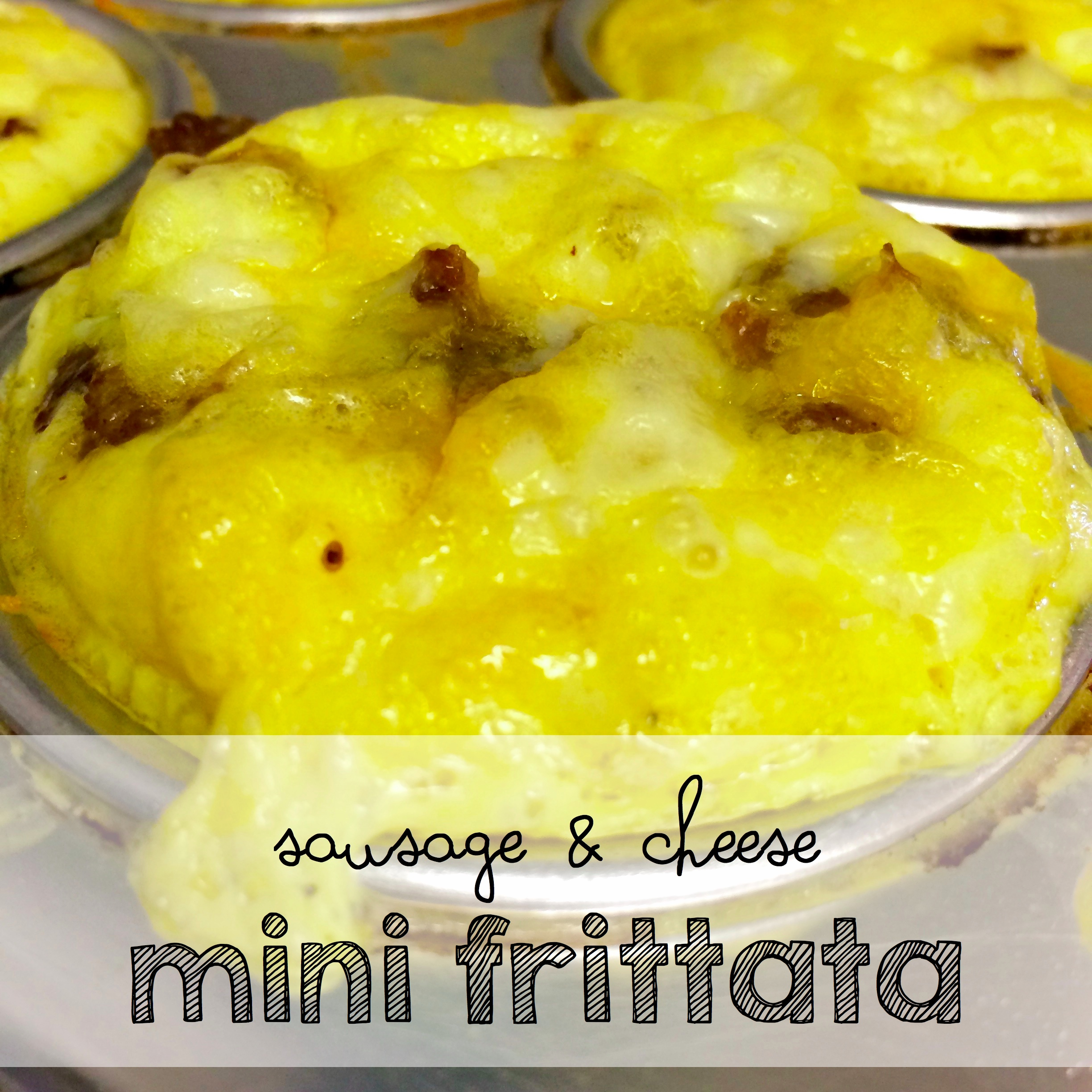 Another Easy Make Ahead Breakfast Idea Perfect For Back To School!  Easy Sausage and Cheese Mini Frittatas