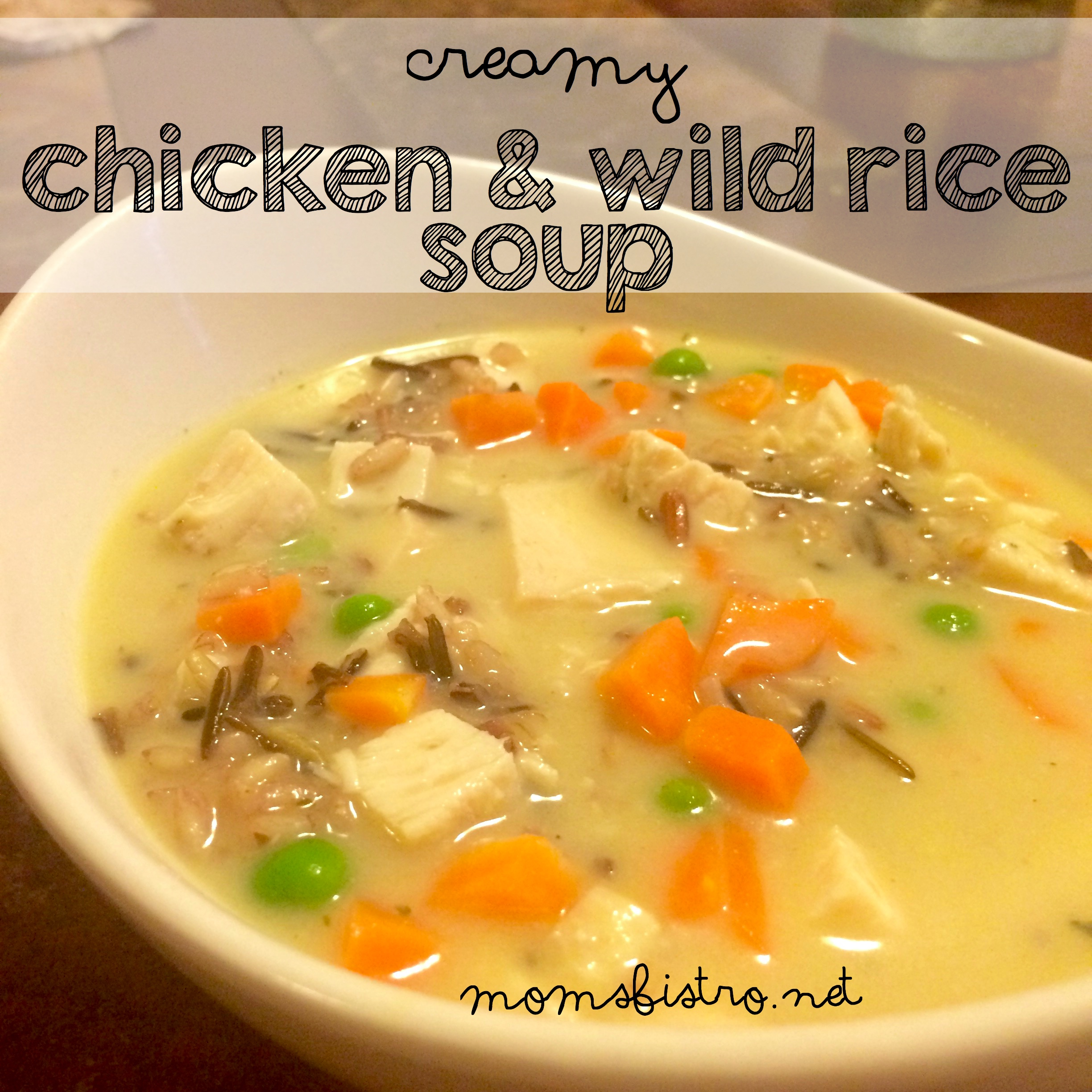 creamy chicken and wild rice soup recipe homemade cream of chicken homemade chicken strock recipe moms bistro