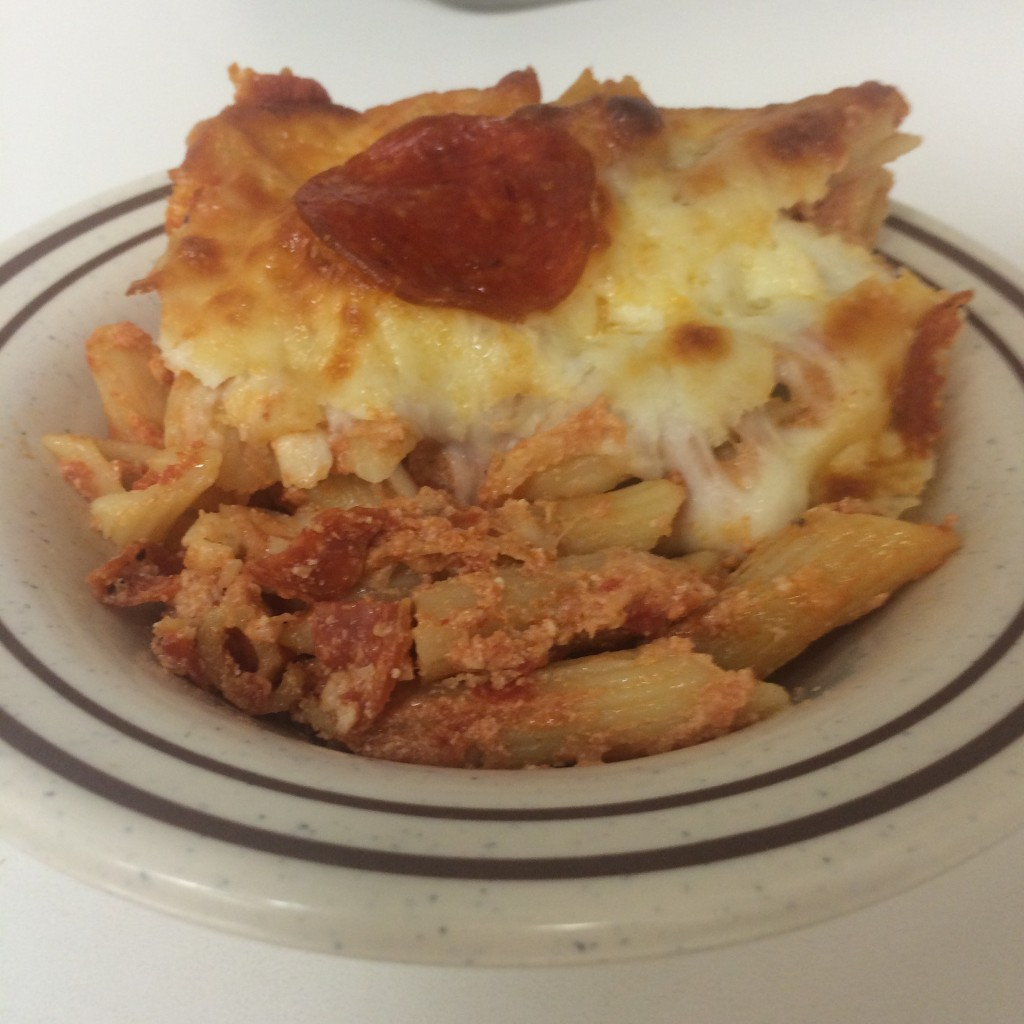 pepperoni pizza pasta bake pizza lasagna recipe moms bistro leftover spaghetti sauce