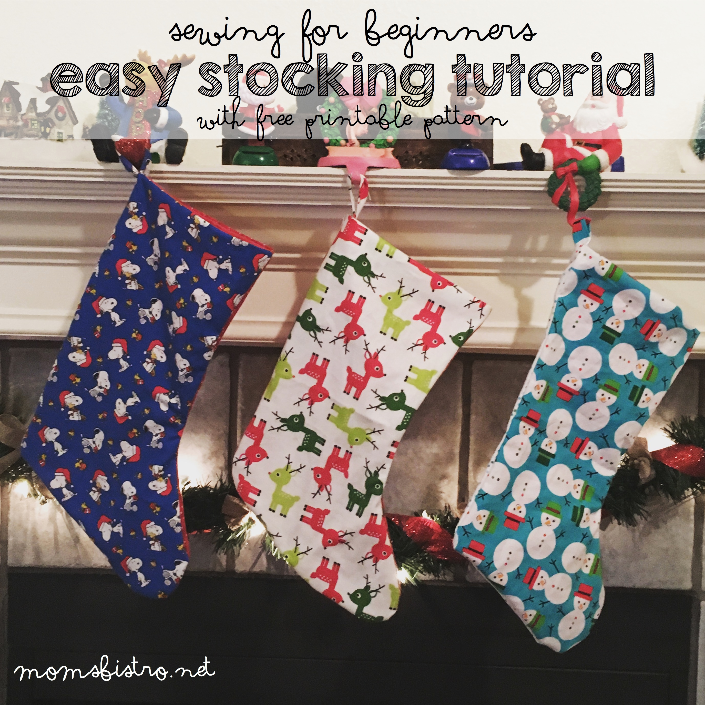 Homemade Holidays Are Always More Special!  Learn How To Make Your Own Christmas Stocking with This Easy Stocking Tutorial with FREE Printable Pattern