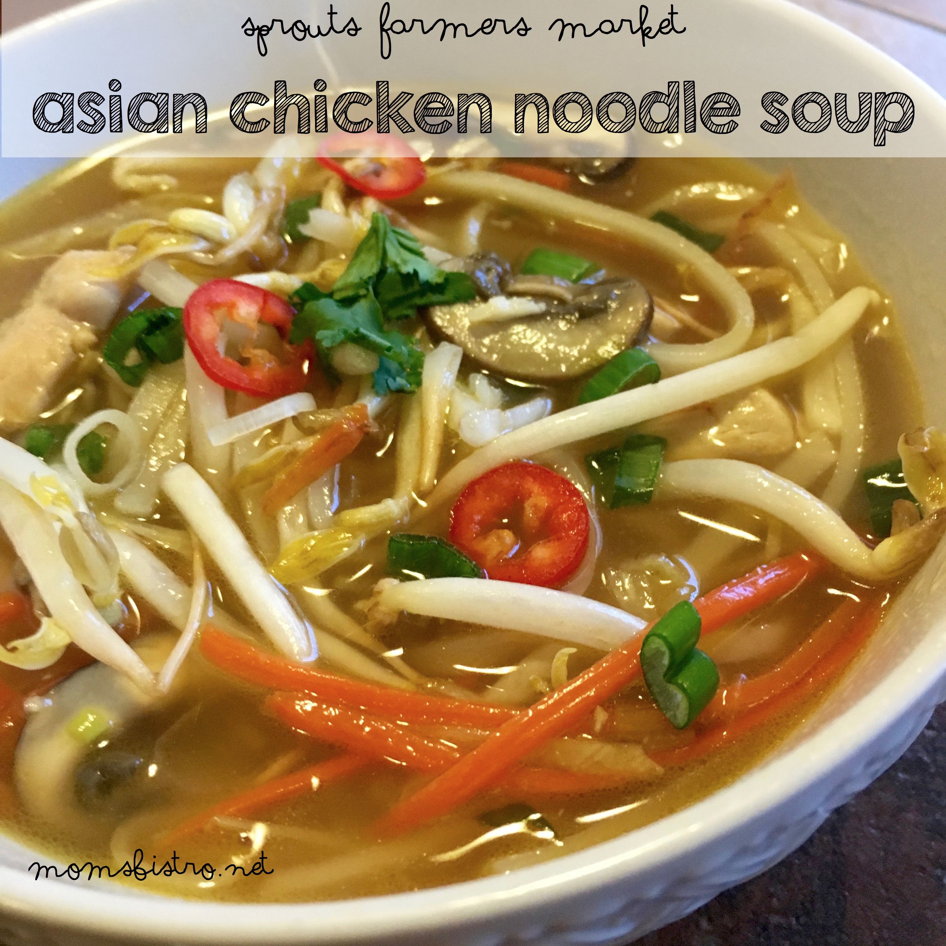 sprouts asian chicken noodle soup
